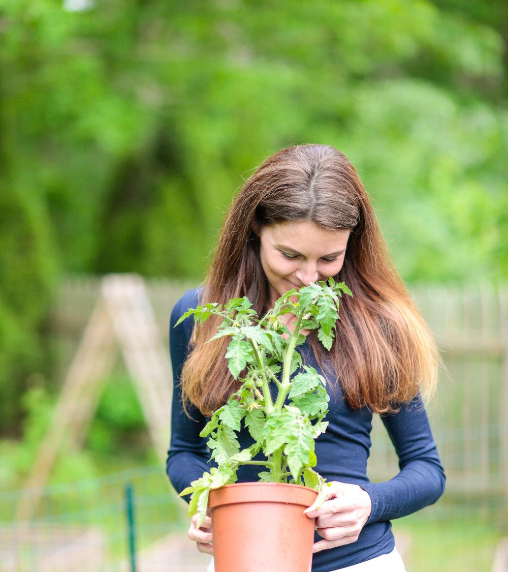 Chef Carol Galanty in her Garden