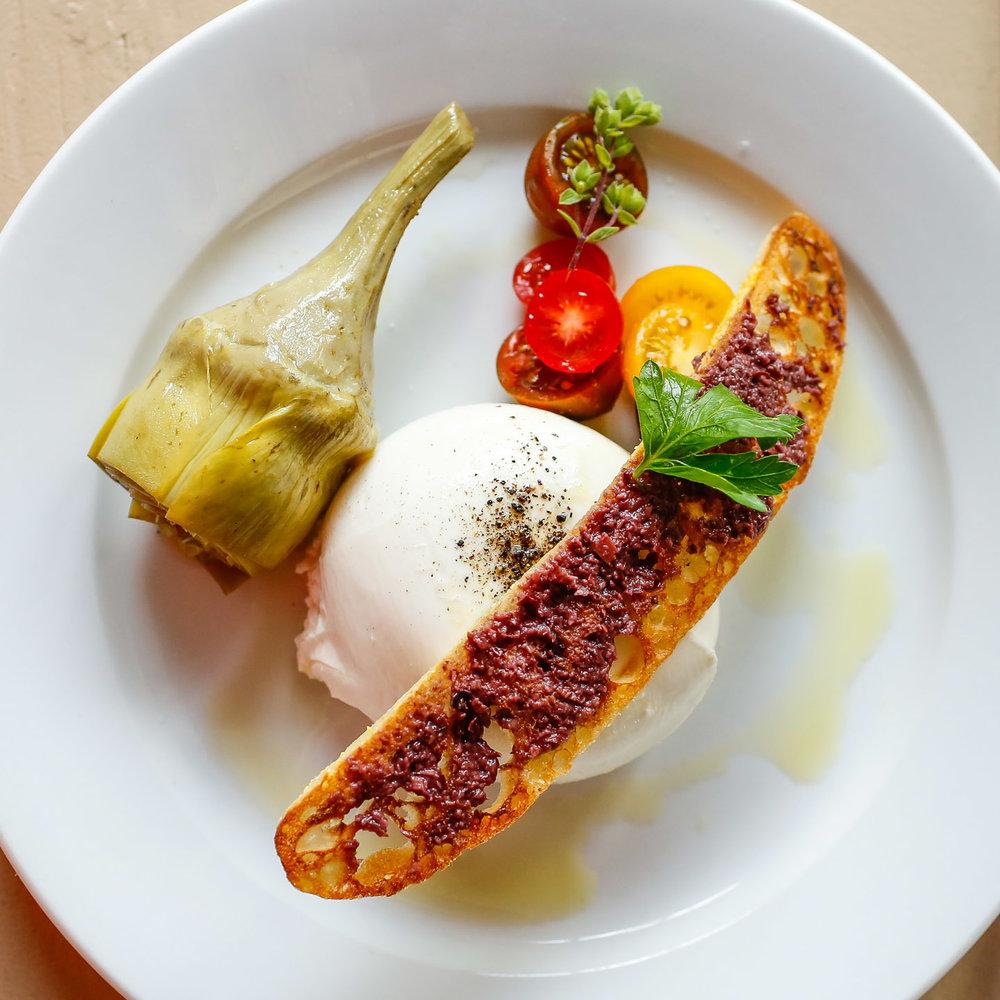 Burrata & Artichoke, Sole East, Montauk