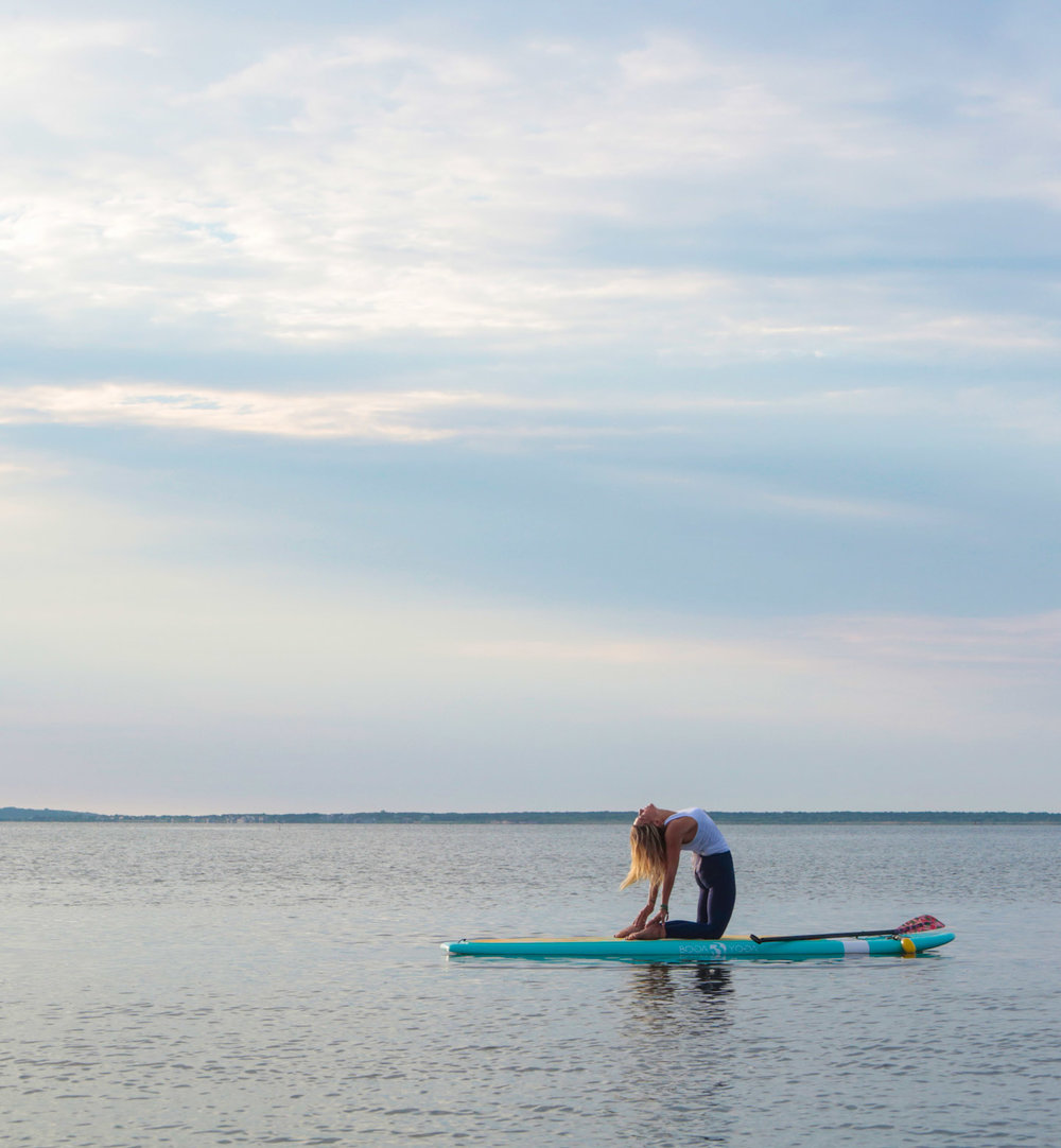 Camel Pose-Stand Up Paddle Yoga