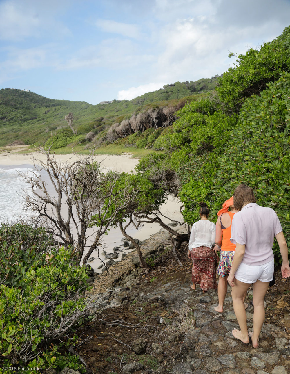 Hiking in Mustique