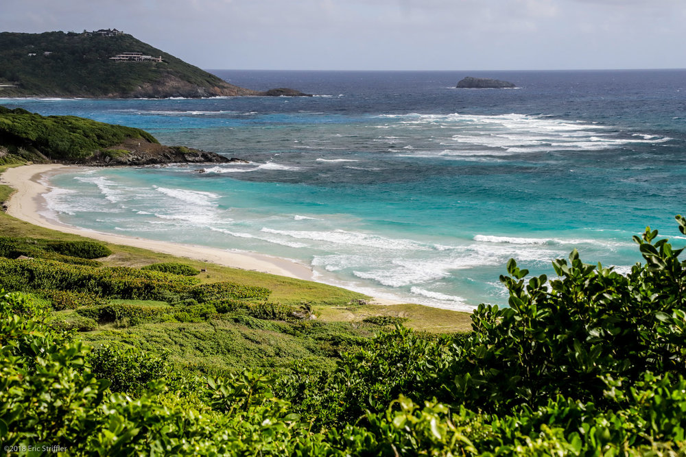 The stunning beach in Mustique