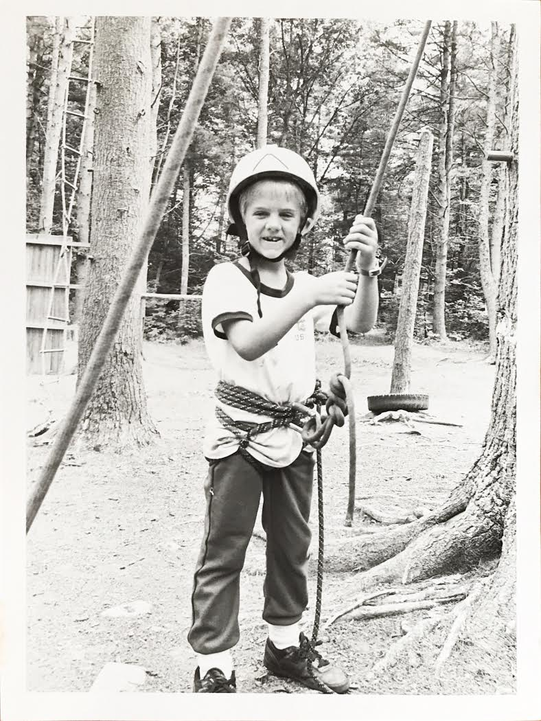 Andrew, age 8 at summer camp.