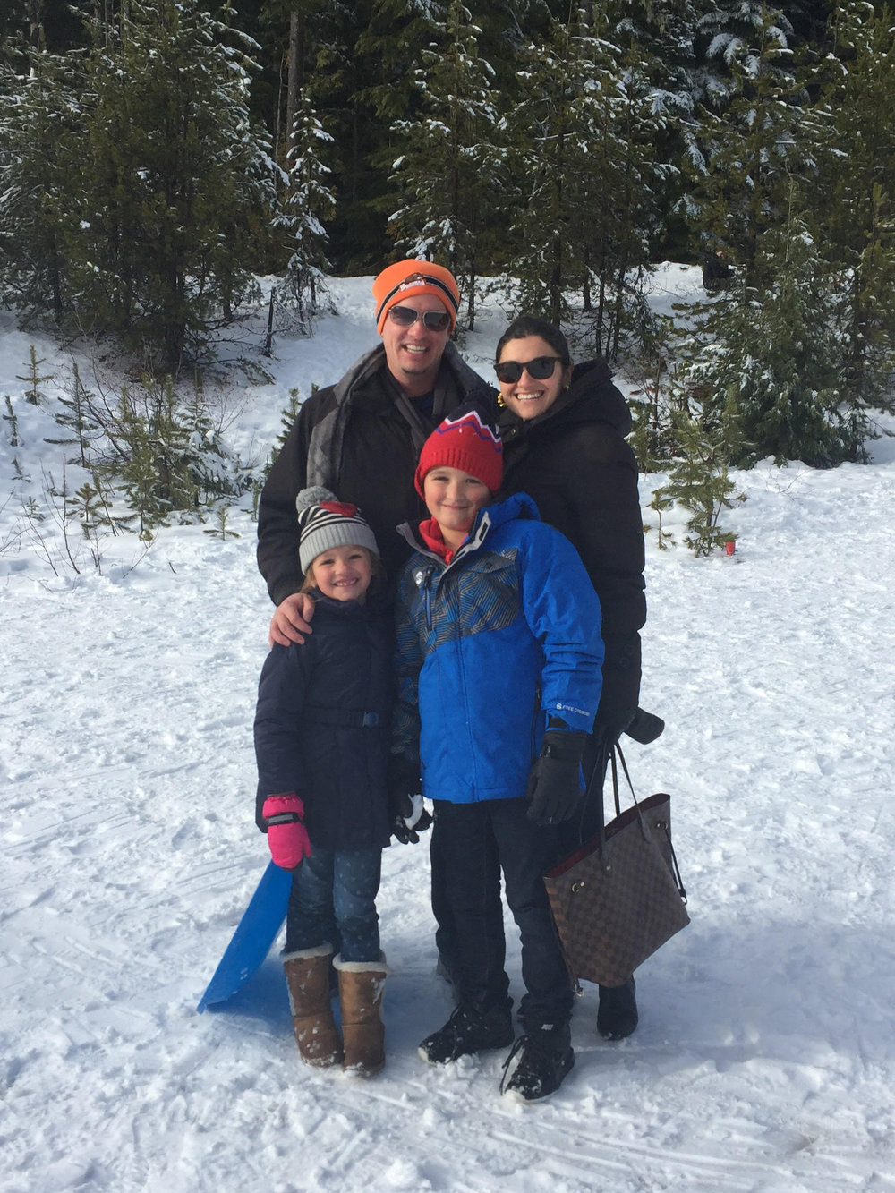 The Guarriello's enjoyed some unexpected snow in Portland, Oregon.