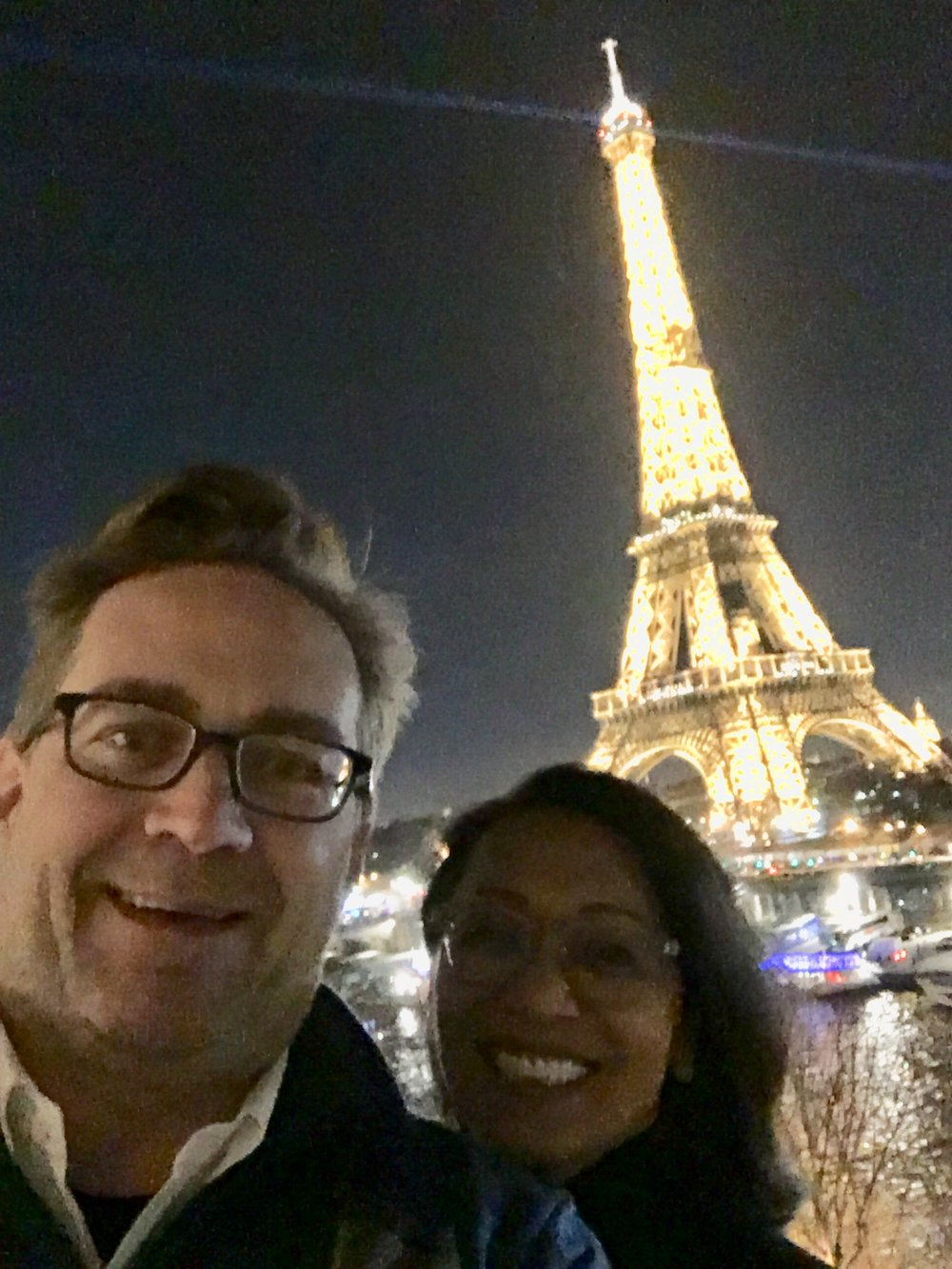 """Mike on his travels in Paris enjoying the """"glam and glitter""""of the city over the holidays."""