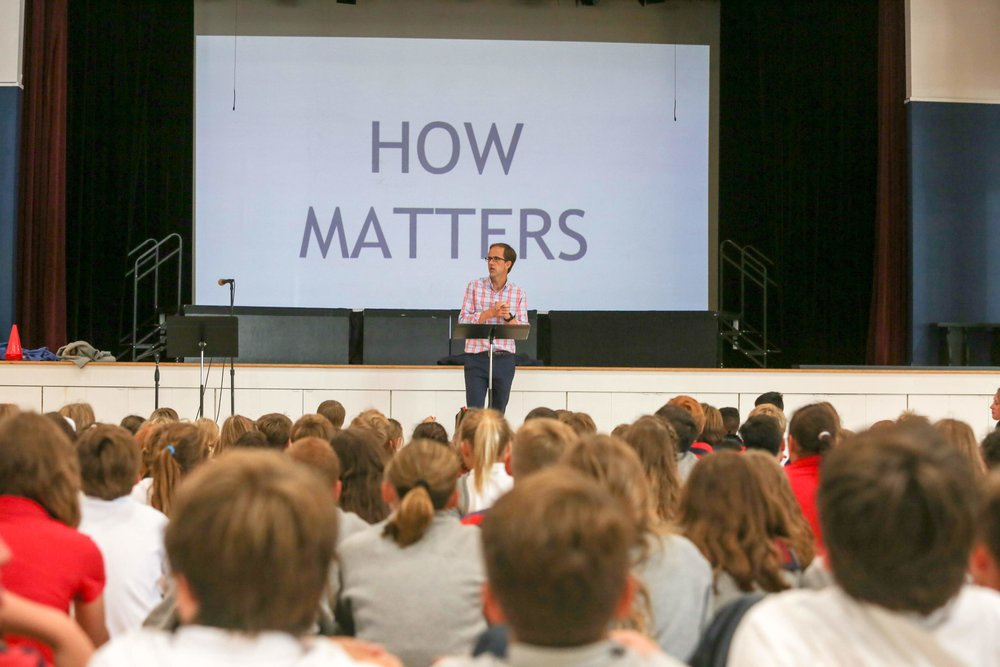 How Matters - Andrew welcomes students on Day 1 with this year's theme