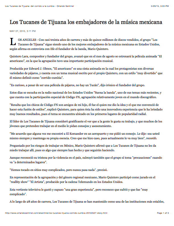 Los Tucanes de Tijuana: del corrido a la cumbia - Orlando Sentinel-1.png