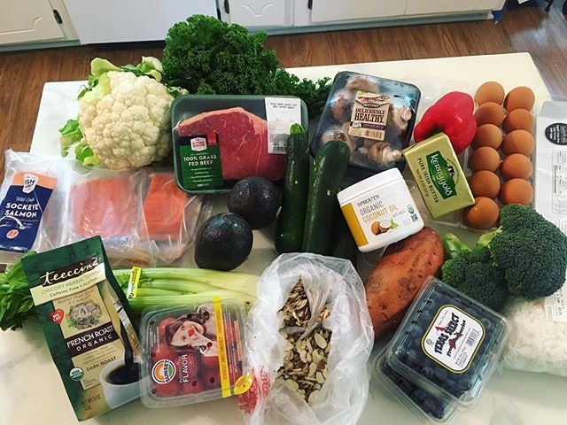 Did a @sprouts run and got everything I need for the week for about $80. And that includes a very large pack of sockeye salmon which was too pretty to resist! . . . . #groceryshopping #sprouts #sproutsfarmersmarket #eatingwell #organicproduce #eatingorganic #wildcaughtsalmon #sockeyesalmon #grassfedbeef #grassfedbutter #paleo #wholefoods #wholefood #wholefoodnutrition #buyorganic #whole30 #keto #ketogenic #ketohealth  #healthyliving #healthychoices #nutrition #eatrealfood #eatwholefoods #wellness #weightloss #sproutshaul