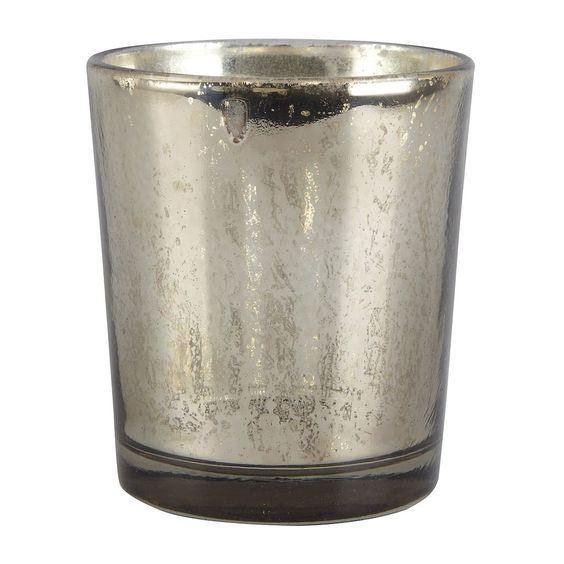 Mercury Glass Votives - Nothing beats the way candlelight flickers in mercury glass votives. Having a combination of sizes and shades adds interest and depth to your table. Weave them in among your arrangements just beware of items that may catch on fire!