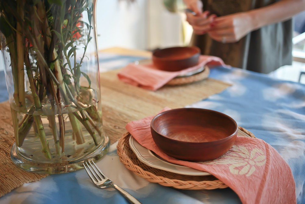 Hand-Made Table Linens - Impress your guests with the use of hand-made table linens, taking your table to the next level.  With minimal supplies and time needed, this makes for a great weekend project!