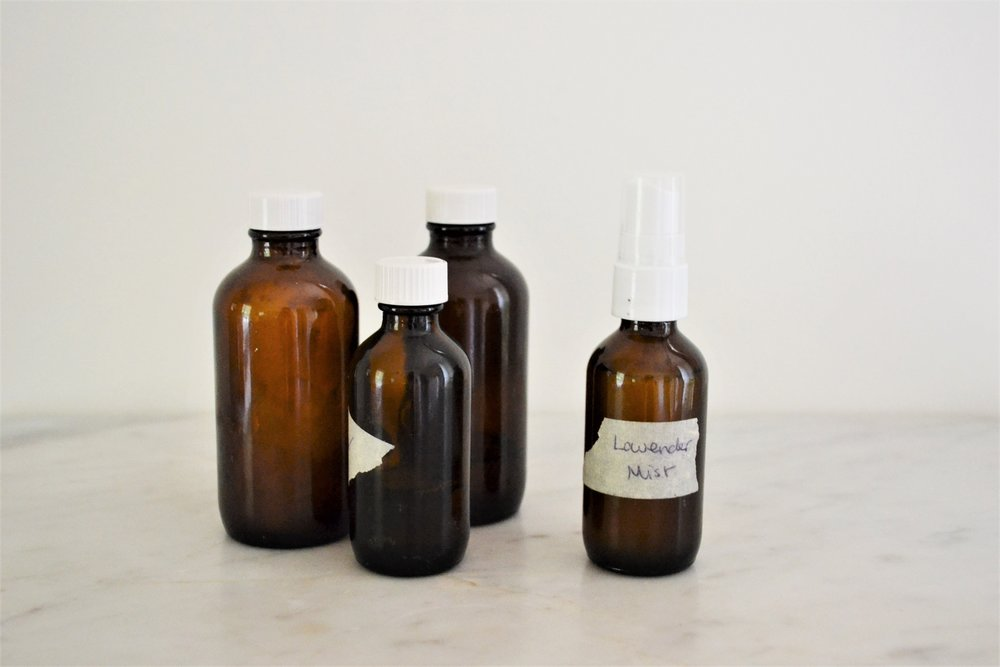Travel-Size Containers - Invest in some re-usable glass, travel-size containers to transfer your beauty products into. (You can label the bottles with masking tape and a pen) For bars of soap opt for a metal, travel-size soap boxor a small mason jar.