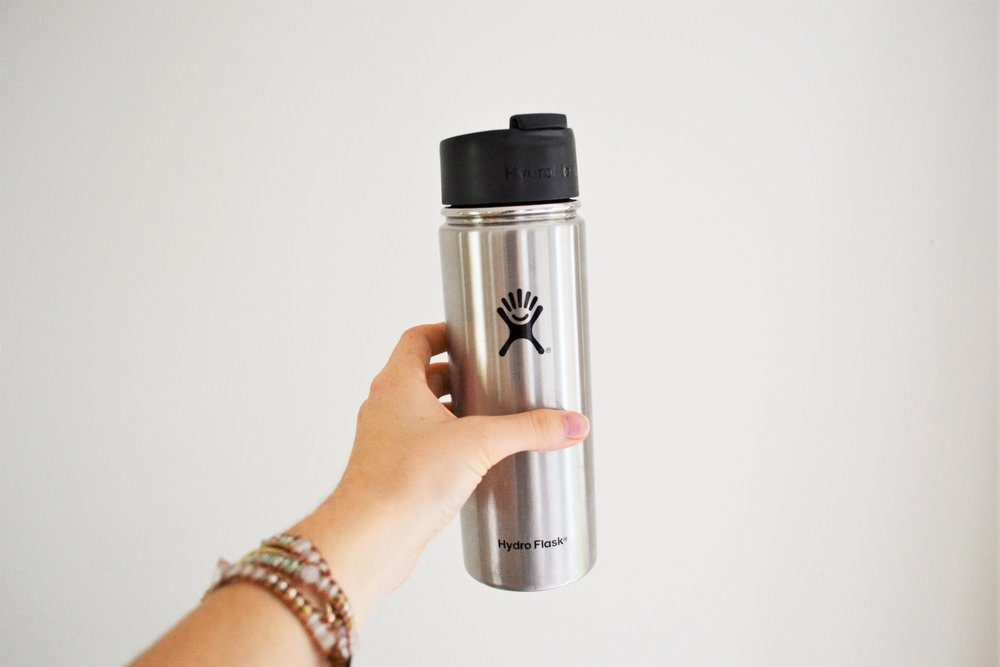 Water Bottle & Thermos - When it comes to reducing the consumption of plastic in our lives I feel like switching from plastic water bottles to reusable ones is one of the easiest moves to make. Pretty much all coffee shops, restaurants, and even flight attendants don't have any issue with them. The only challenging thing is remembering to bring it along with you!