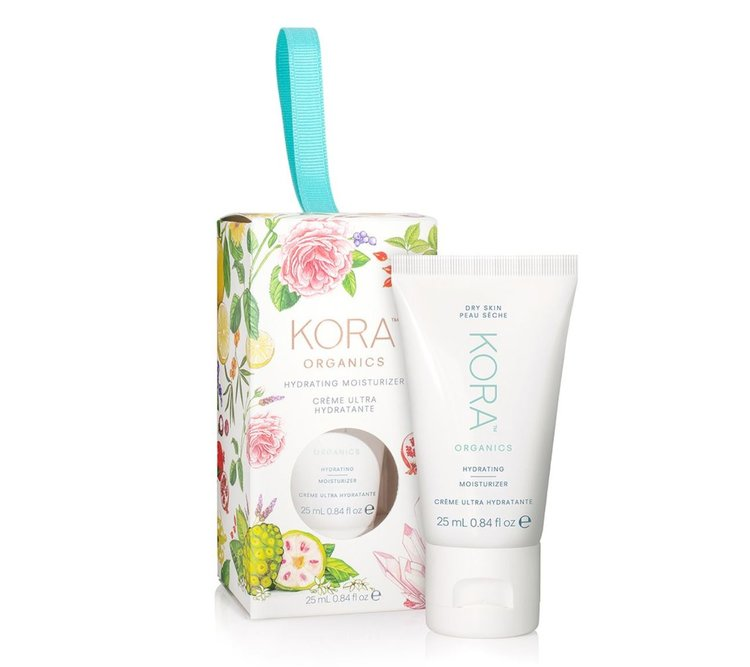 KORA Organics Hydrating Moisturizer - The Kora Organics hydrating moisturizer or really any other their products, would make a beautiful gift this holiday season. Certified Organic and made with quality ingredients, these products are soothing and effective for all skin types.