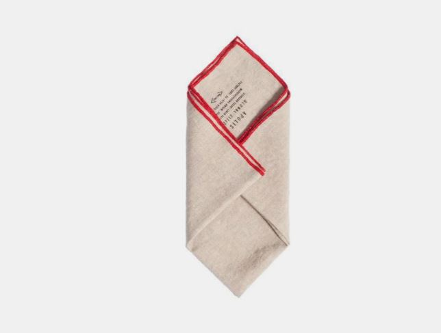 Apolis Washed Linen Pocket Square - Ethically made in California, this finely crafted pocket square is an eye-catching addition to any outfit.