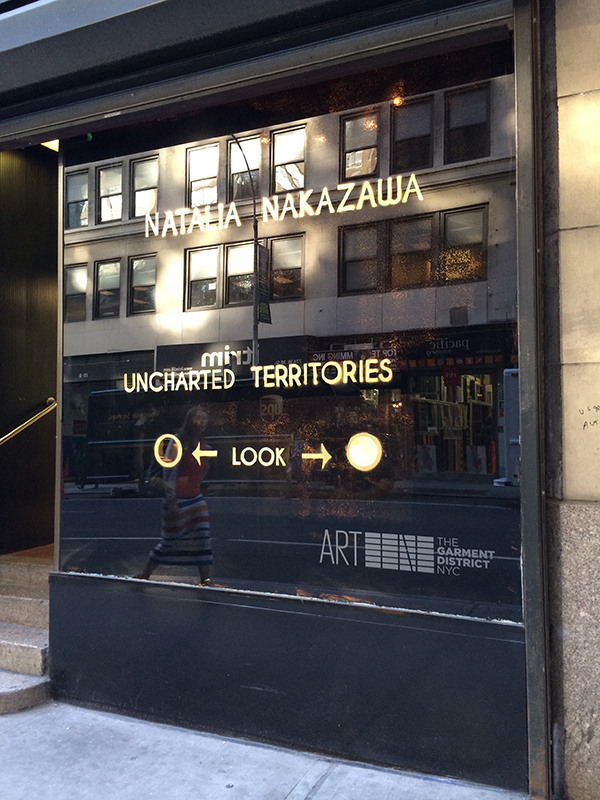 """Uncharted Territories"" Installation, 2014 Garment District Alliance Public Art Space   Uncharted Territories press release"