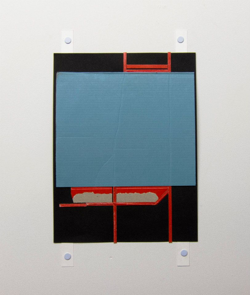 Ryan Sarah Murphy, 2013 Pool Found cardboard on paper