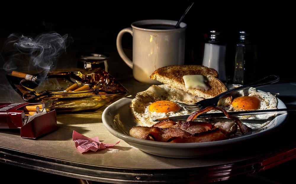 50s Diner Breakfast Scene