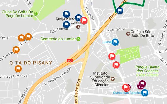 telheiras mapa LisbonWeek telheiras mapa
