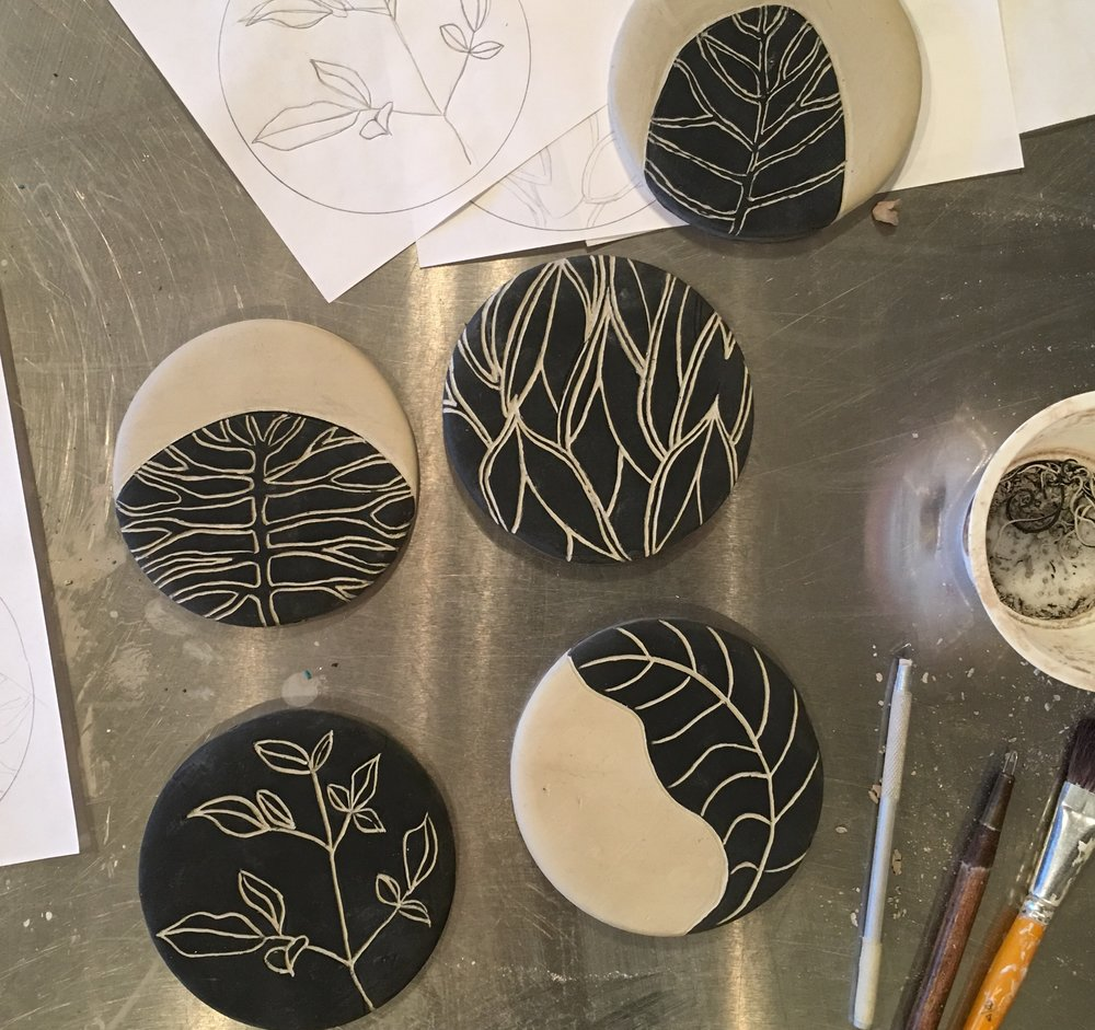 Sgraffito Tile Krb Ceramics