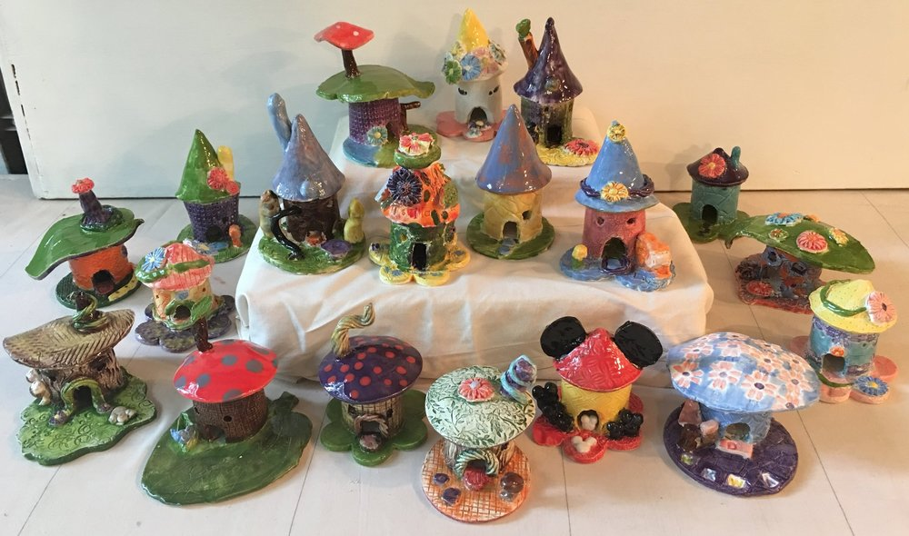 Learn the basics of hand-building while you make a one-of-a-kind fairy house!