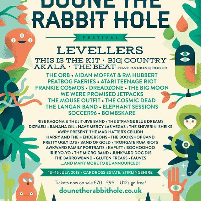 Yo! We're playing at @dounetherabbithole! Cannae wait! Wooooooohooooo