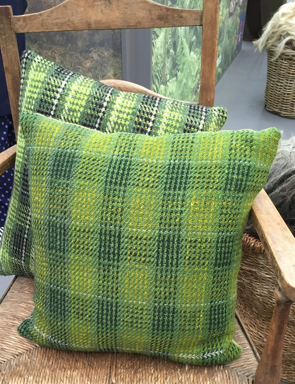 Pure wool cushion by handweaver Rebecca Connolly