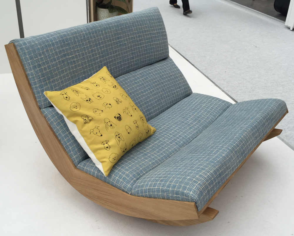 Room for two in this great rocking chair by Baines & Fricker