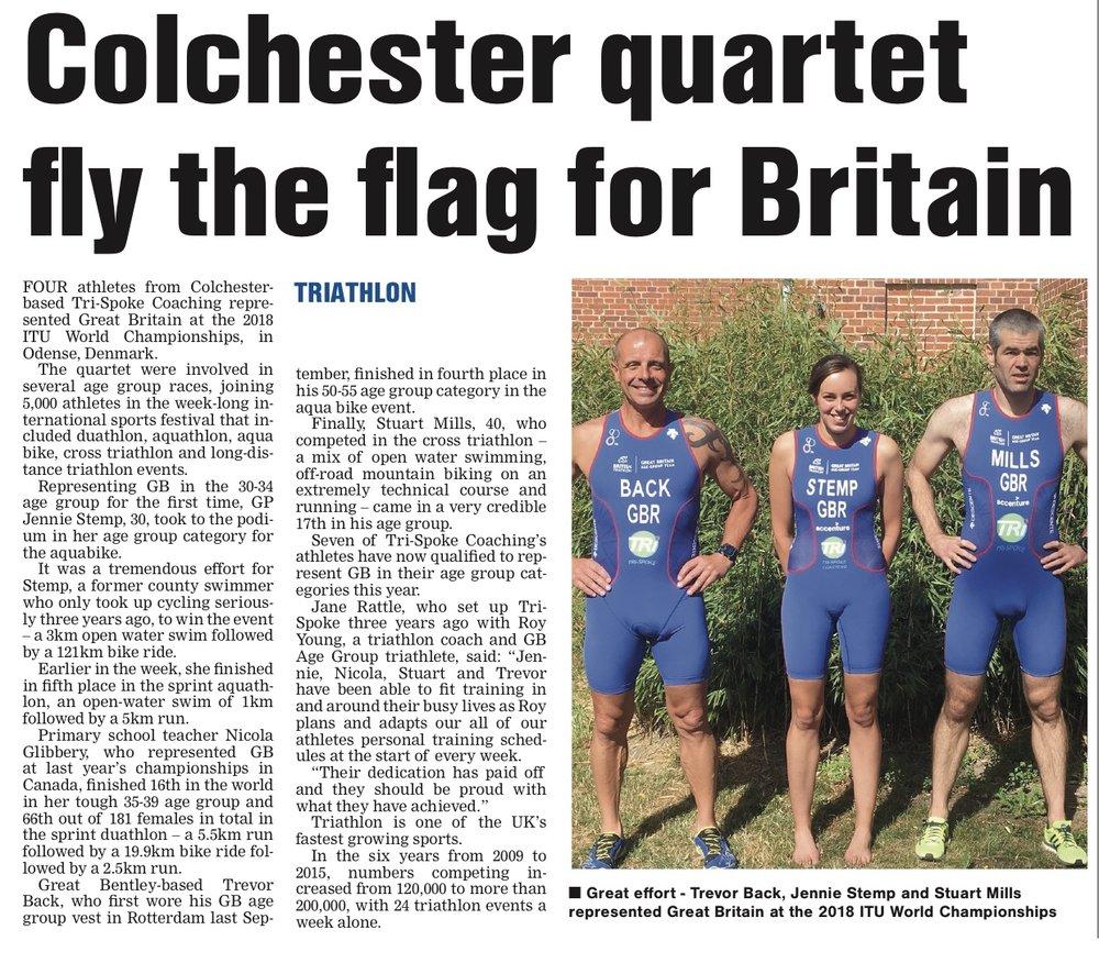 Tri-Spoke Coaching s GB Quartet in the press 352291129