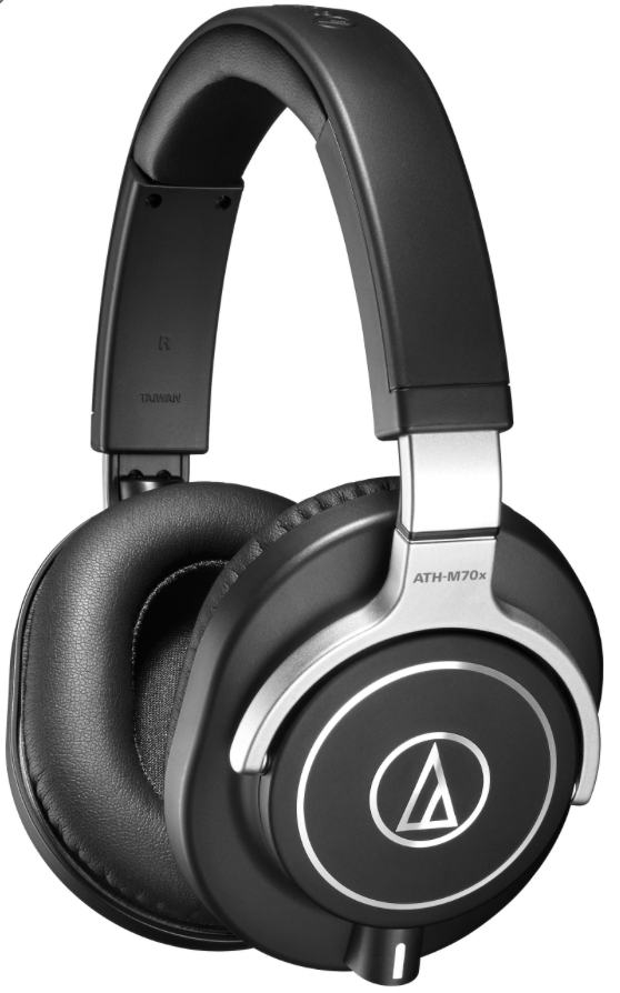 Audio Technica ATH-M70X - Where as some of the reviews in this post also mention variations of the brand in questions offerings, Audio Technica have found themselves with two separate entries. There is in fact four different models in the M-series of headphones. We have included the two that we think are suitable for music production - there are some cheaper option in the M20X and M40X variations. However the M70X are like the big daddies of the range. Ergonomically they are all fairly similar, however the 70's have a more slightly more sleeker design and a nice, slimmer and more minimal design on the headband, however this comes without a compromise as the ear-cups still swivel like those lower down in the product range, and as a result they pack away nicely in a rather fancy protective hard case that comes as standard. It's worth noting that the impedance is very low for a product at this price point, but it does make them extremely versatile. In fact the company recommend the following applications; Front Of House, Mastering, Studio Mixing and Tracking, DJing, Post Production and even Audio Forensics - yep thats pretty much everything then! If you are in the market for a high-end, versatile, reliable pair of closed back headphones, these are the ones!Price: £229Cup Type: ClosedFrequency Response: 5Hz - 40kHzImpedance: 38 ΩCable: Cable: 3 x Detachable cables (1.2m - 3.0m coiled cable, 3.0m straight cable and 1.2m straight cable)https://www.bopdj.com/sound/headphones/studio/audio-technica-ath-m70x.html