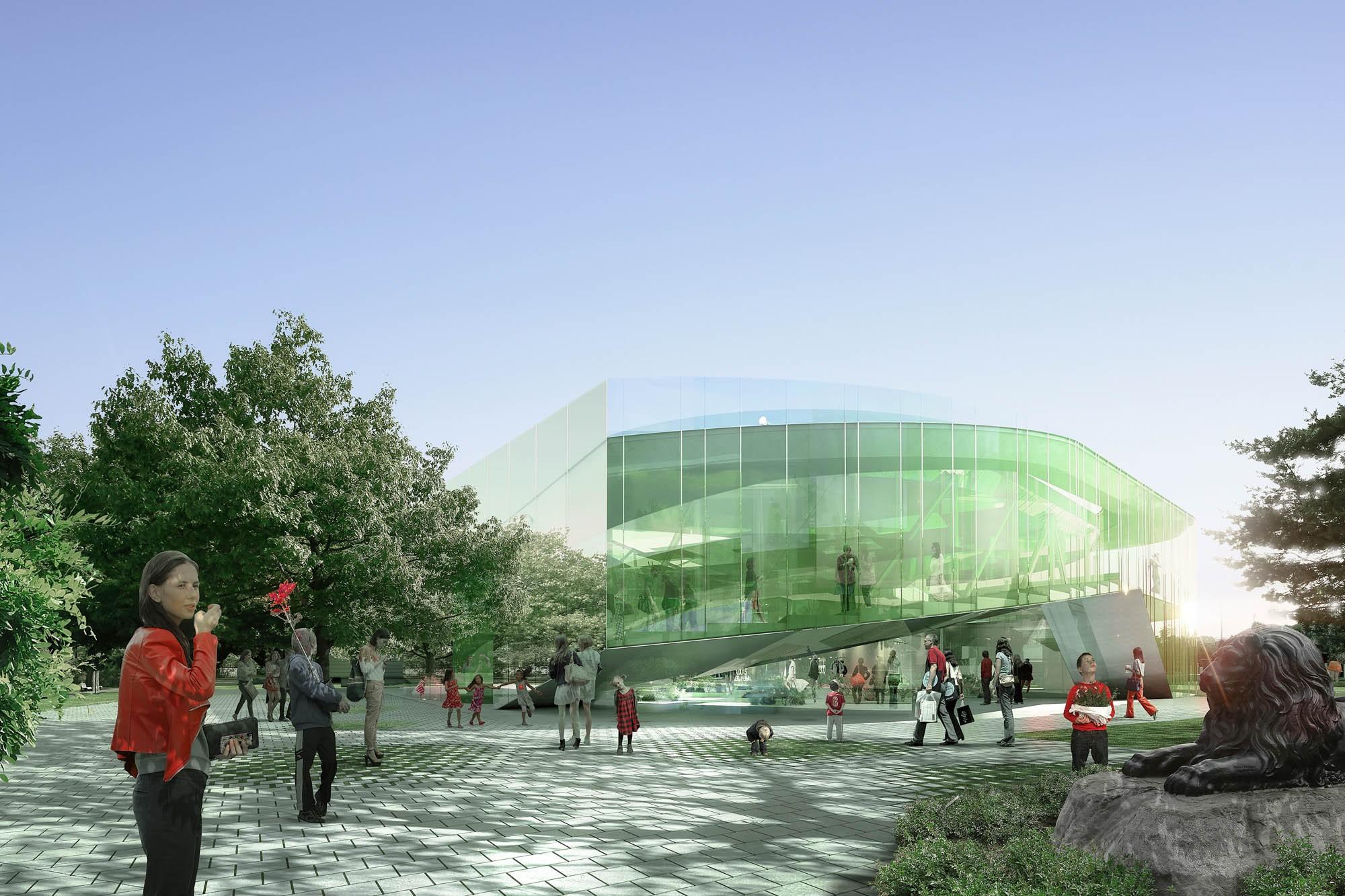 Pavillon de verre du jardin botanique de Montréal Competition ...