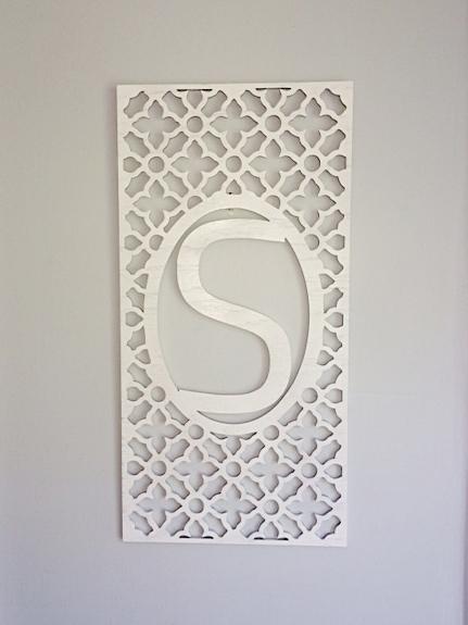 MOROCCAN MONOGRAMMED WOOD PANEL Personalized Home Decor Door/Wall/Wreath  Hanger U2014 Retro ArtisansRetro Artisans
