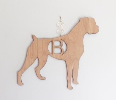 BOXER DOG Personalized Home Decor Door/Wall/Wreath Hanger — Retro ...