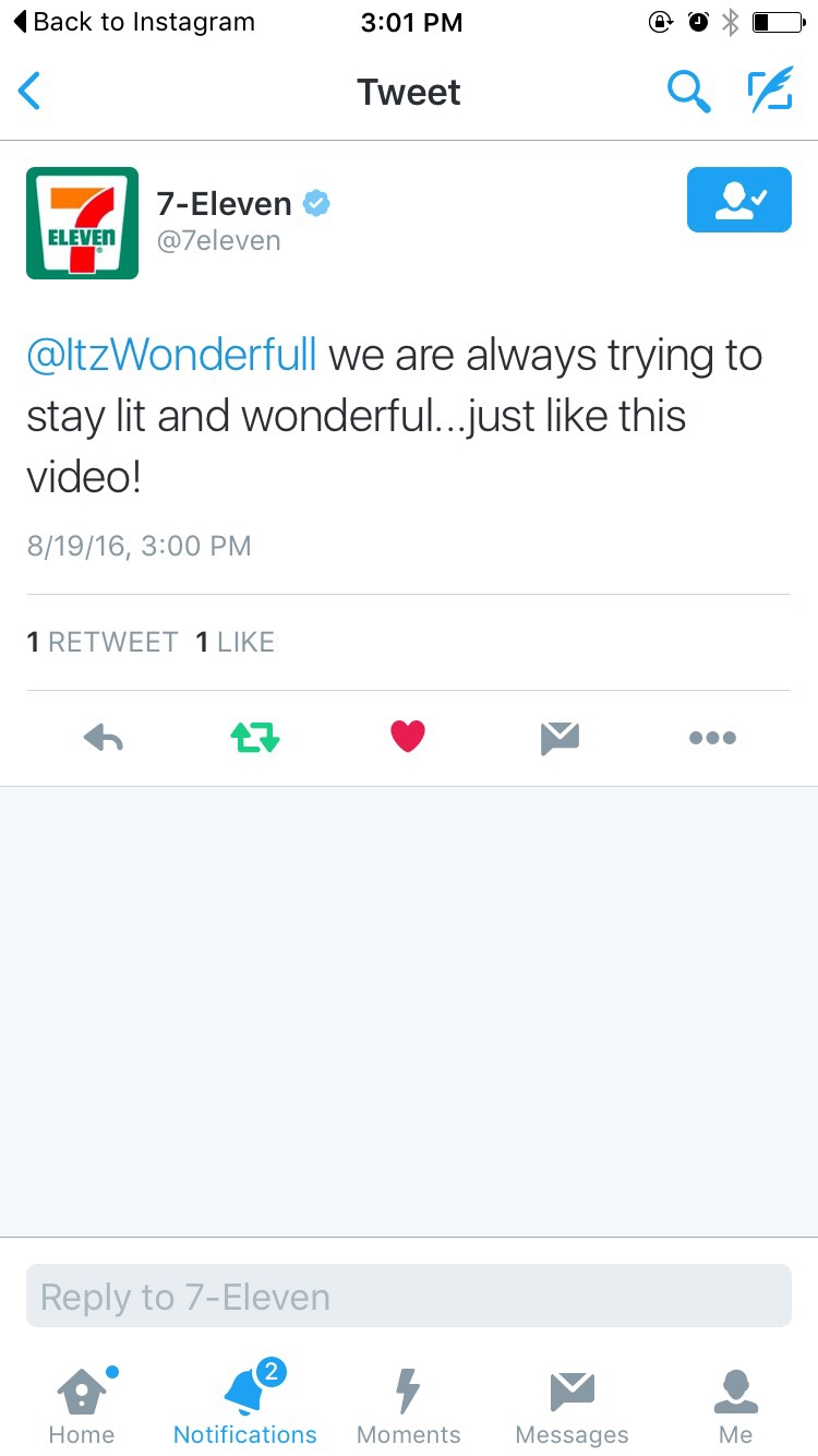 7/11 mentioning the wonderfullness