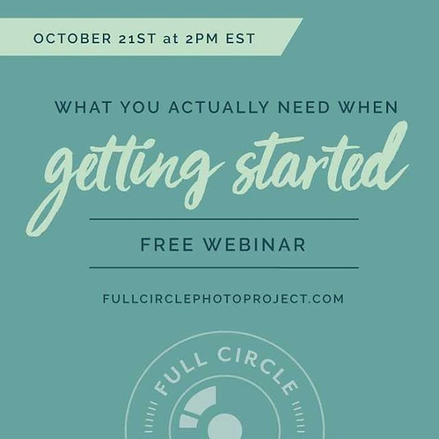 Interested in getting started with photography? I'd love for you to join us for our webinar this Friday! It's all about what you actually need to get started with DSLR photography. Check out the link in my profile to register. And feel free to ask any questions that you'd like for me to cover during our time together. Can't wait to see you there! #fullcirclephotoproject