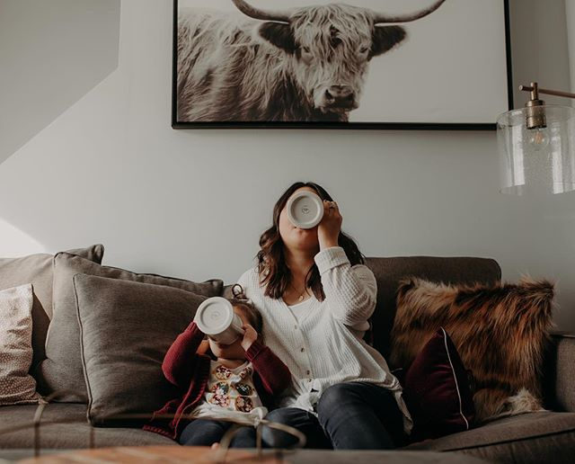 The Vadnais girls need their coffee. (There may or may not be skittles in Everly's cup🤷🏻♀️) I love this tiny human so much! - Happy Thursday! It is Thursday right? I'm getting ready to head out for an engagement session downtown and I'm so excited! This is always that time of the year where I'm ready for off season to be over and to get back to work!
