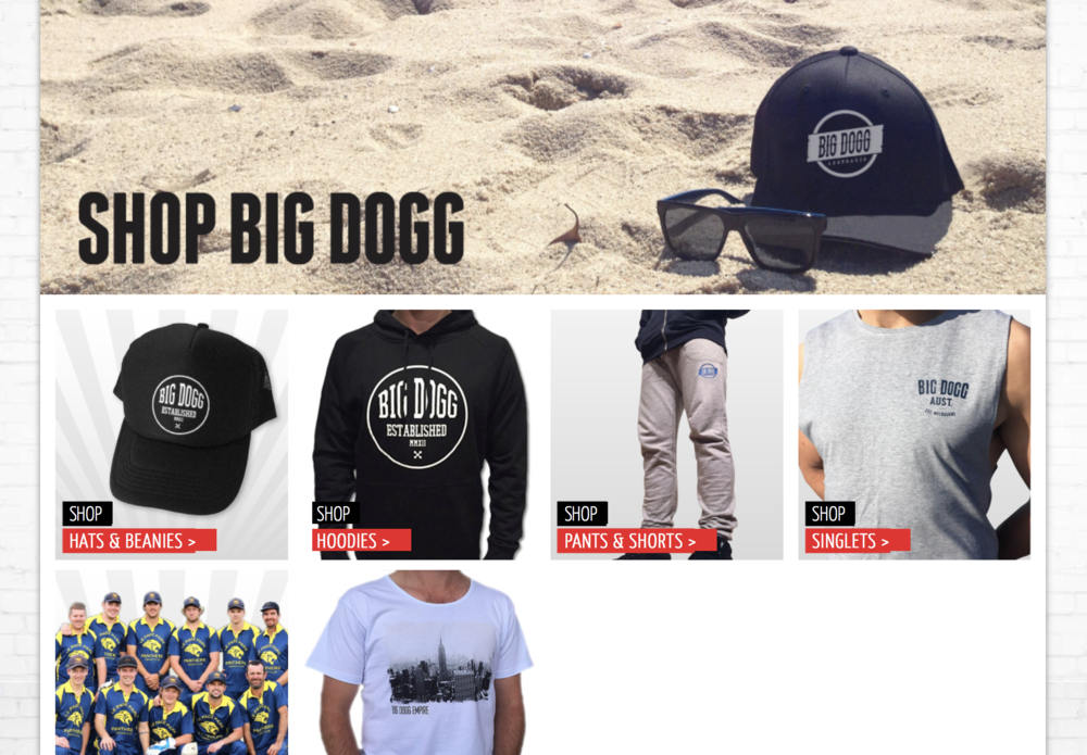 Shop Big Dogg online now.........