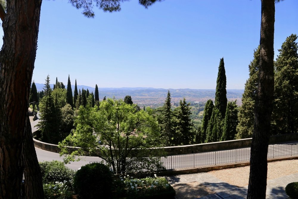 The view of Florence from Hotel Villa Fiesole