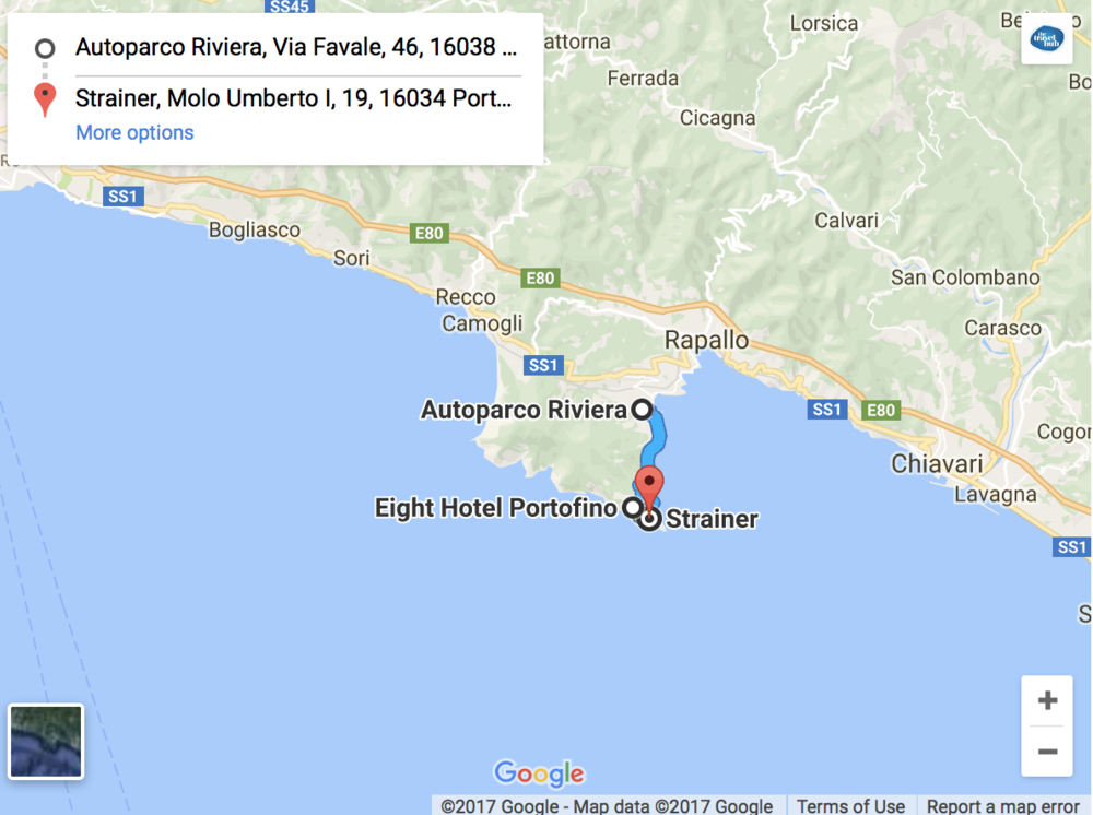 Our Parking and Entering Portofino Itinerary: