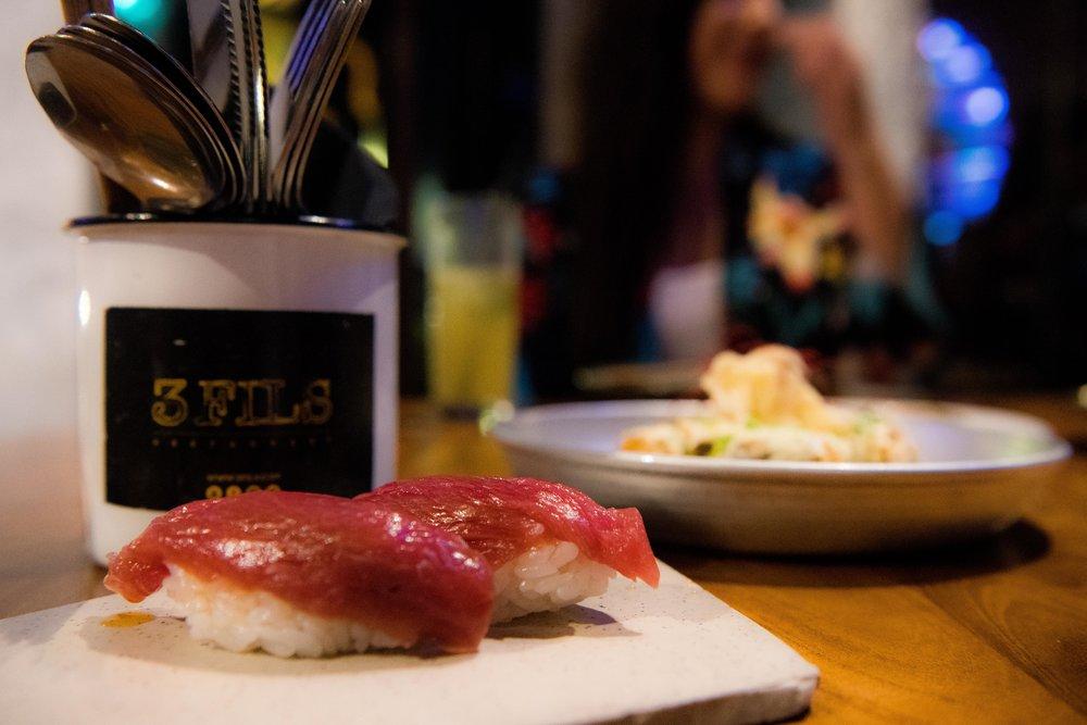 Don't miss the tuna sashimi at 3Fils