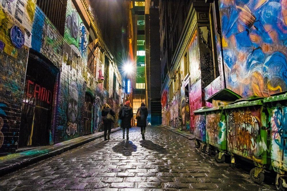 The street art of Hosier Lane…………an instagram highlight.