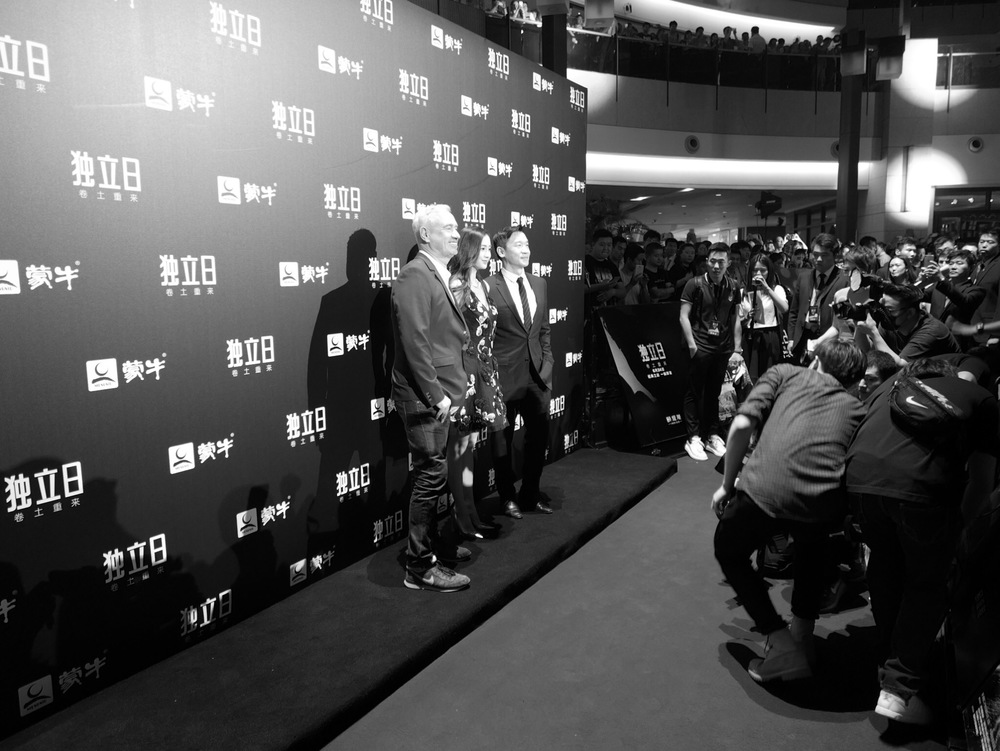 Roland, Angelababy, and Chin Han at the Beijing Premiere