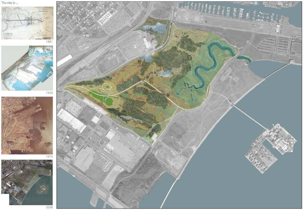 AT LIBERTY STATE PARK IN NEW JERSEY, WE ANALYZED HISTORICAL LAND USES TO DEVELOP A MASTERPLAN THAT BOTH SPEAKS TO THE LANDSCAPE'S PAST WHILE INFORMING ITS FUTURE