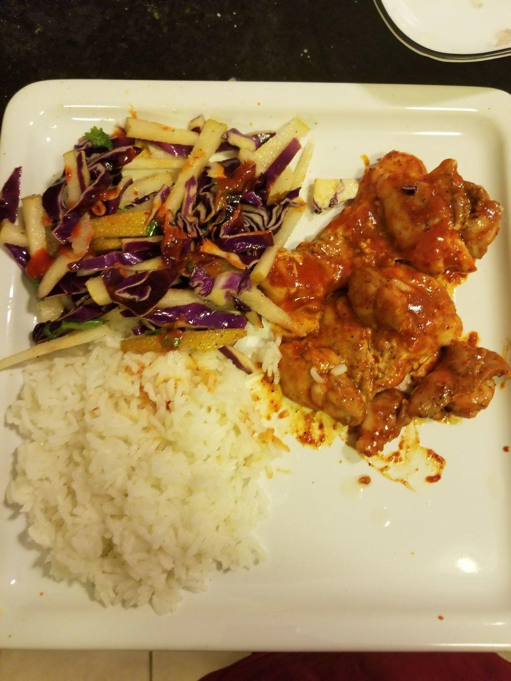Kimchi chicken w/slaw