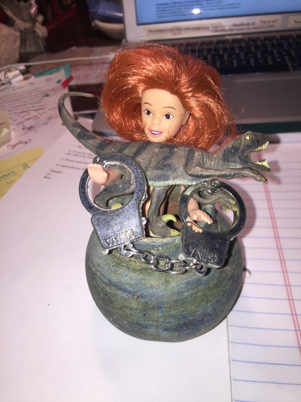 Redhead with Alligator.JPG