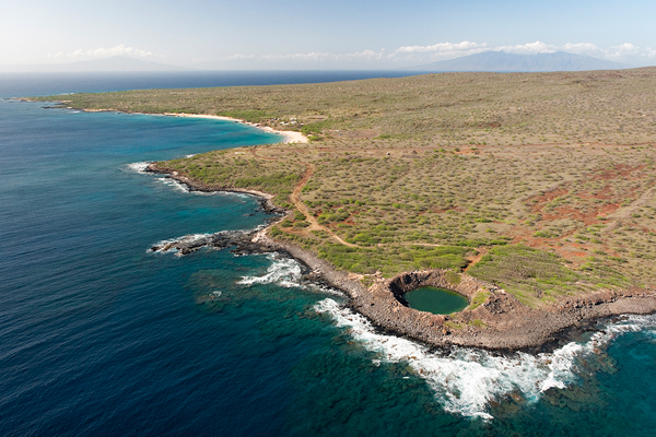 Sailors hat,  photo from helicopter over Kaho'olawe