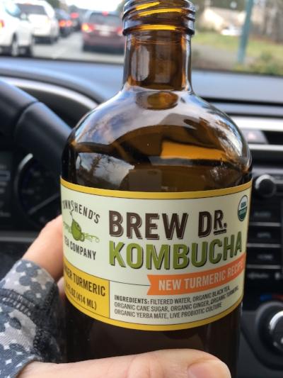 9:10am Brew Doctor Kombucha Ginger Turmeric