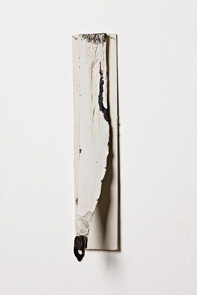 touché, 2011, oil and acrylic on wood, 17 x 3.5""