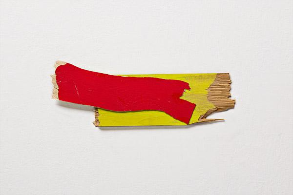 "love letter, 2012, acrylic on wood, 3 x 7"""