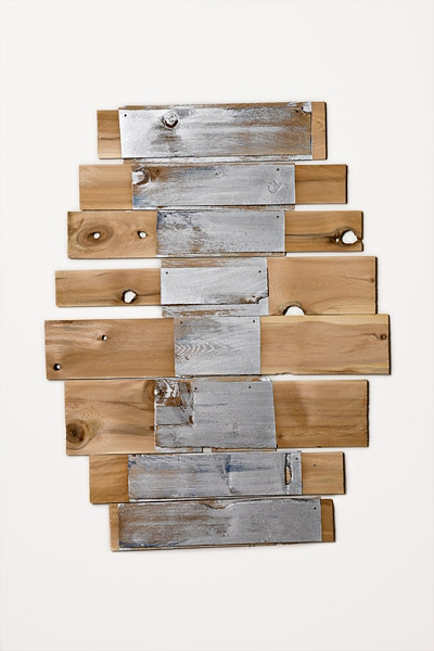 Motherlode, 2010, acrylic on white cedar shims with wire brads