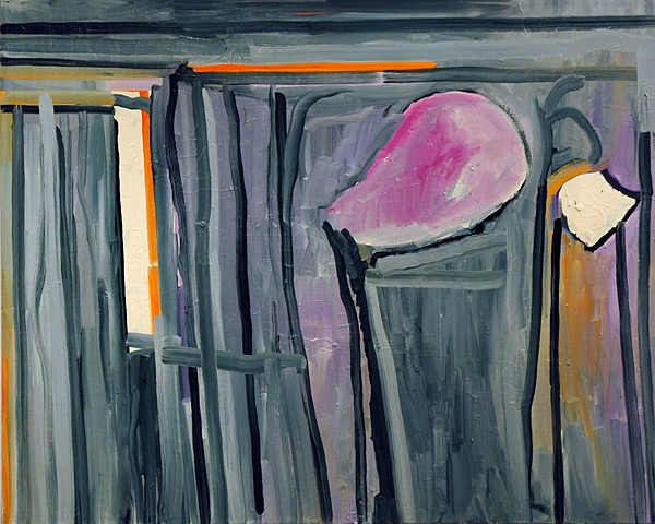 Pink Heads, 2005 oil on canvas, 40 x 50""