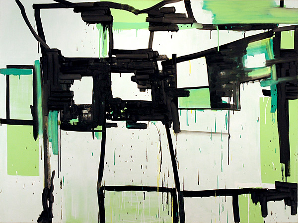Buckle, 2006, oil on canvas, 54 x 72""